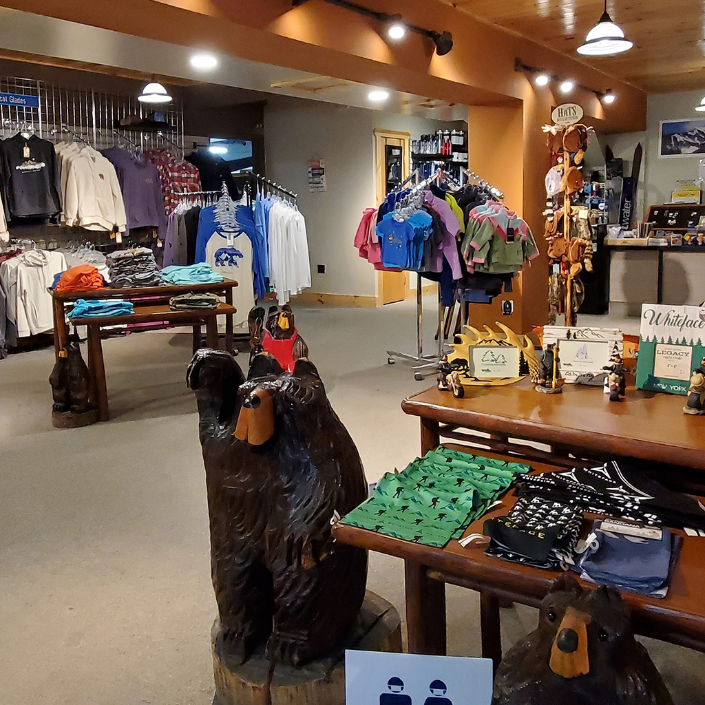Brookside Apparel shirts and souvenirs.