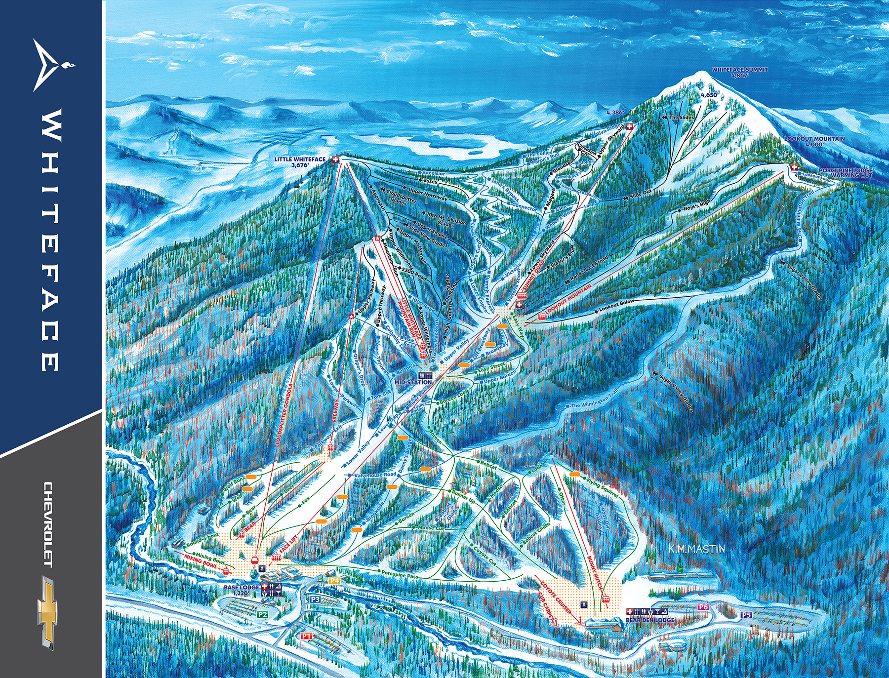 Whiteface Mountain Full Trail Map