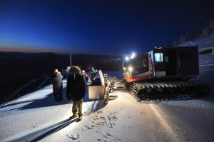Night time snowmakers