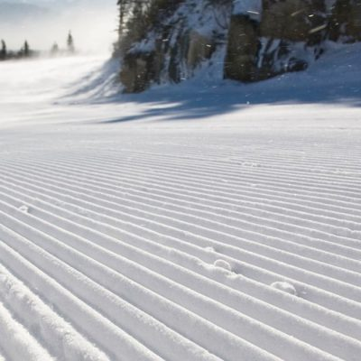 A perfectly groomed run at Whiteface