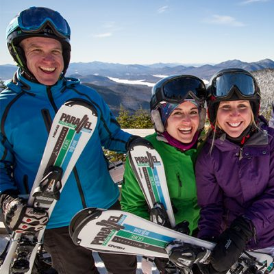 Happy new to sports on the top of Little Whiteface.
